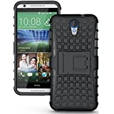 Yes2Good Hybrid Military Grade Armor Kick Stand Back Cover Case For HTC Desire 620 620G (Black)