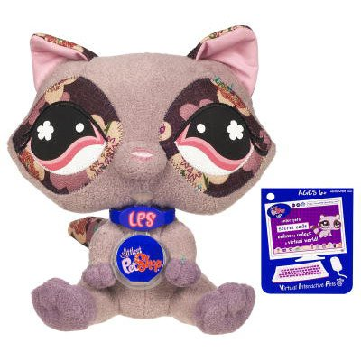 Buy Low Price Hasbro Littlest Pet Shop VIP Virtual Interactive Pet Plush Figure Raccoon (B001KPIAAQ)