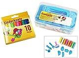 COM-FOUR® Knetspaß Knetspass Knetmasse Knete Kinderknete Knetbox Knetformen Knetwerkzeuge 27-teilig