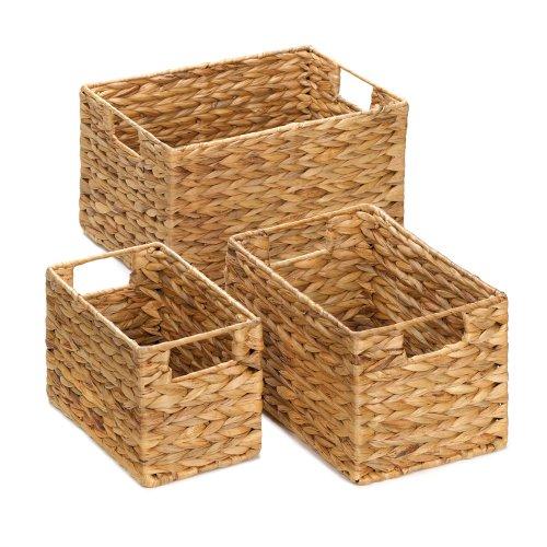 Koehler Home Decor Holiday Bath Accessory Magazine Storage Organizer Straw Nesting Woven Baskets