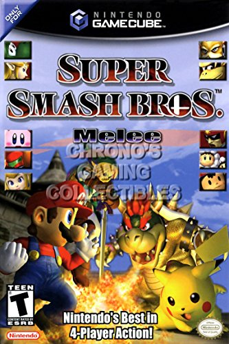 CGC Huge Poster - Super Smash Brothers BOX ART - Nintendo GameCube GC - NGC065 (24