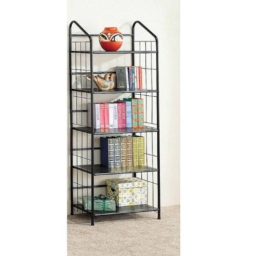 Coaster Home Furnishings 2895 Casual Bookcase, Black by Coaster Home Furnishings