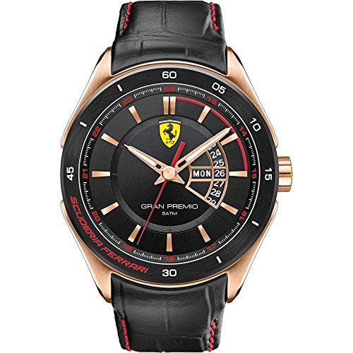Signori-Guarda XL Ferrari GRAN PREMIO analogico al quarzo in pelle 830185