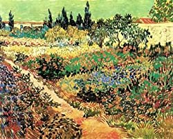 12X16 inch Van Gogh Canvas Art Repro Flowering Garden with Path