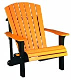 Deluxe Adirondack Chair - Poly - Tangerine & Black