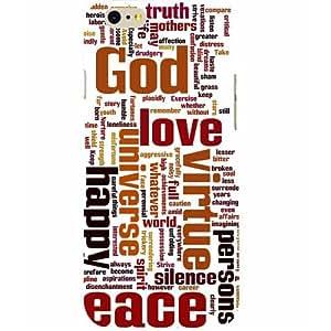 Casotec God Peace Happy Print Design Hard Back Case Cover for Apple iPhone 6