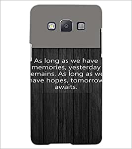 PrintDhaba Quote D-4721 Back Case Cover for SAMSUNG GALAXY A5 (Multi-Coloured)
