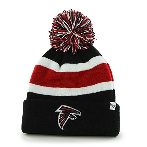 Nfl Atlanta Falcons '47 Brand Breakaway Cuff Knit Hat With Pom, Black, One Size