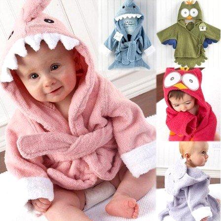 Gladbaby Baby Hooded Bathrobe Tower Blanket, Animal Hood front-439976