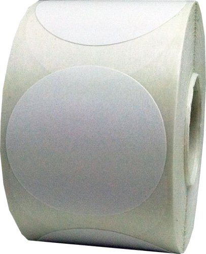 "1.5"" Inch Diameter Round White Color Coding Dot Labels - 500 Colored Circle Stickers Per Roll"