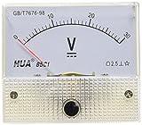 uxcell アナログ電圧パネル 85C1-V DC 0-30V アナログパネルメーター電圧計 クラス2.5