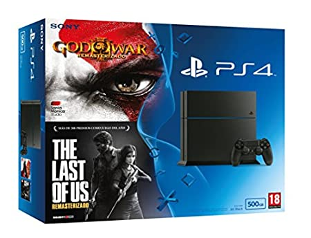 PlayStation 4 - Consola De 500 GB + The Last of Us + GOW III