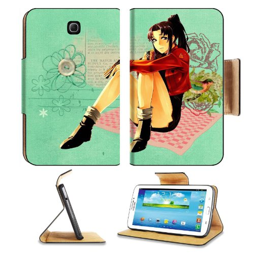 Neon Genesis Evangelion Misato Samsung Galaxy Tab 3 7.0 Flip Case Stand Magnetic Cover Open Ports Customized Made To Order Support Ready Premium Deluxe Pu Leather 7 12/16 Inch (190Mm) X 5 5/8 Inch (117Mm) X 11/16 Inch (17Mm) Liil Galaxy Tab3 Cases Tab_7.0 front-944614