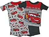 Cars Lightning McQueen Little Boys 4 Pc Short Cotton Pajama Set