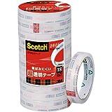 3M スコッチ 透明粘着テープ 透明美色 18mmX50m BK1850