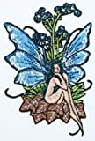Artist Amy Brown Forget me not Embroidered Iron on Fairy Fairies Patch p584 by CD