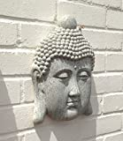 Buddha Garden Ornament - Thai Buddha Face Plaque - Stone Effect (BUD224)