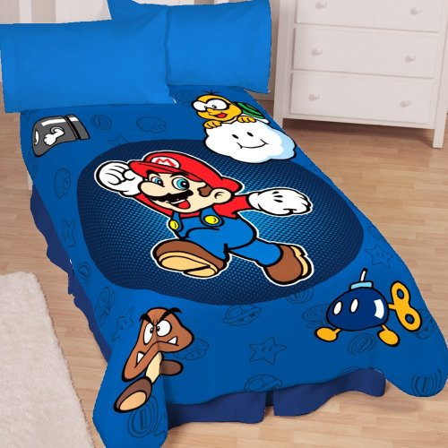 Best Price Super Mario Who's With Me Microraschel Blanket, 62-Inches by 90-Inches
