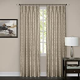 Achim Home Furnishings Windsor Pinch Pleat Pane, 34 by 63\