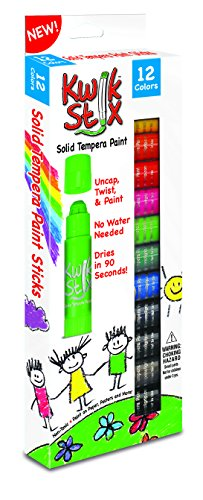 The Pencil Grip Kwik Stix Solid Tempera Paint, Super Quick Drying, 12 Pack (TPG-602) (The Pencil Grip Inc compare prices)