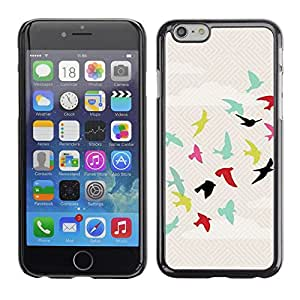 Omega Covers - Snap on Hard Back Case Cover Shell FOR Apple Iphone 6 Plus / 6S Plus ( 5.5 ) - Teal Sky Free Flight Green