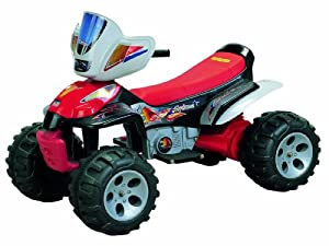 Happy Rider/Fun Wheels 12-volt Battery Operated Trail Master ATV Ride On, Red