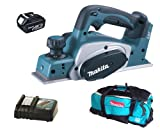 Makita 18V LXT BKP180 BKP180Z BKP180Rfe Planer, BL1830 Battery, DC18RC Charger And DK18027 Bag