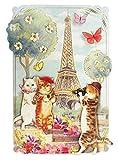 Amazon.co.jpパンチスタジオ 立体 グリーティングカード 封筒セット KITTY PARIS 44406