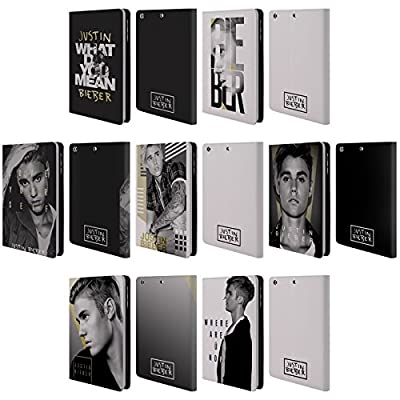 Official Justin Bieber Purpose B&w Leather Book Wallet Case Cover For Apple iPad mini 1 / 2 / 3