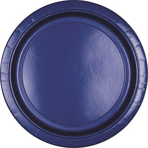 Marine Blue Paper Dinner Plates