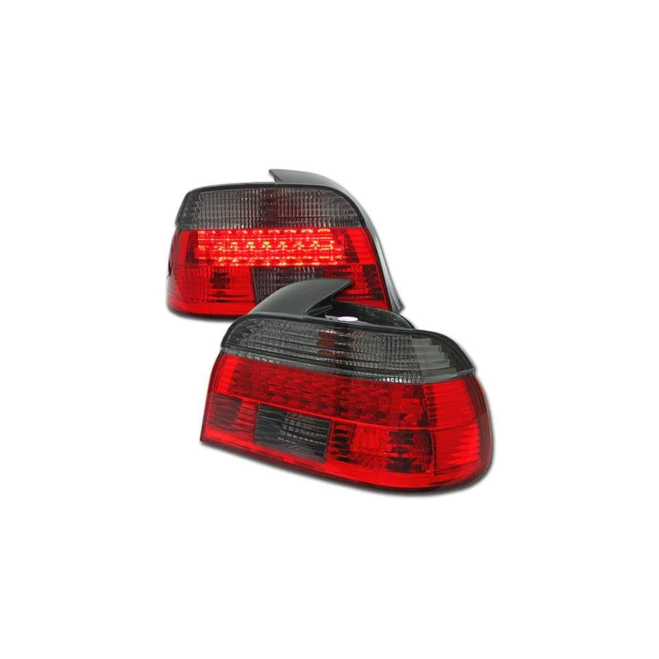 BMW 5 Series Led Tail Lights RED Smoked LED Tail Lights 1997 1998 1999 2000 97 98 99 00