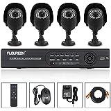L'ULTIMA FLOUREON 1200TVL HDMI Kit Videosorveglianza Sistema TVCC DVR H.264 8 CH Canali HDMI(1920*1080) VGA + 4 Telecamera Esterno Impermeabile TVCC/CCTV Supporta P2P iOS