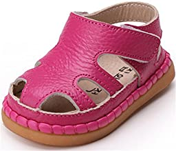 PPXID Infant Baby Boy\'s Girl\'s Sofe Leather Sandal Hollow Out shoes-Rose Red 5 US size