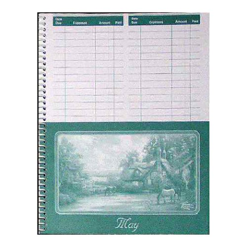 monthly bill paying reminder organizer with pockets