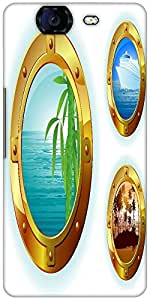 Snoogg Cruise Liner Window Designer Protective Back Case Cover For Micromax C...