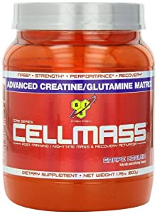 BSN Cellmass Creatine Post-Training NightTime Mass and Recovery Activator, GrapeCooler, 1.76  Pound