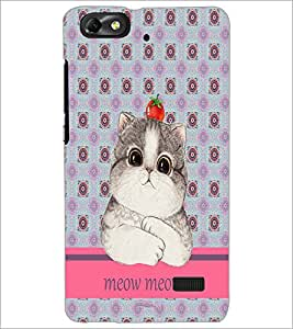 PrintDhaba Kitty D-3796 Back Case Cover for HUAWEI HONOR 4C (Multi-Coloured)