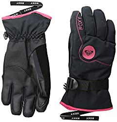 Roxy SNOW Junior's Jetty Solid Snow Gloves, Anthracite, Large
