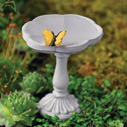 Fiddlehead Fairy Village - Mini Bird Bath with Butterfly - includes Bonus Novelty Fairies Bill and I Believe in Fairies 3