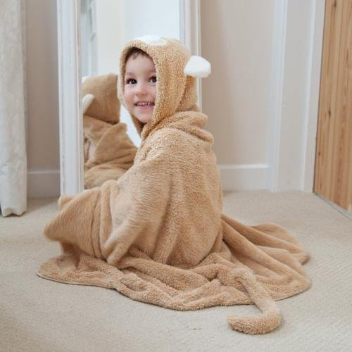 Cuddledry Plush Hooded Bath Towel HUGE (Snuggle Monkey)