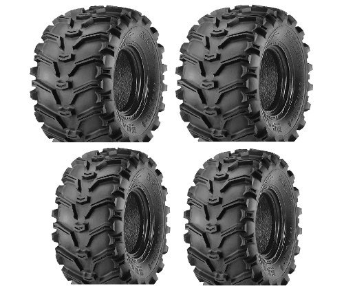 2 FRONT 25-8-12 & 2 REAR 25-10-12 ATV Kenda Bearclaw TIRES (Atv Tire Set compare prices)