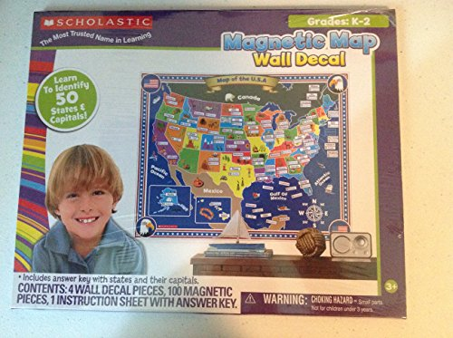 Scholastic Magnetic Map Wall Decal