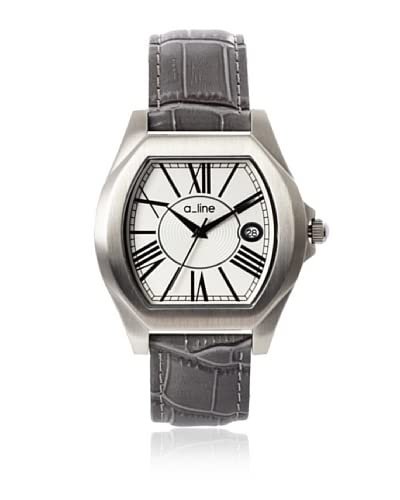 a_line Women's 80008-02-GY Adore Grey/Silver-Tone Leather Watch