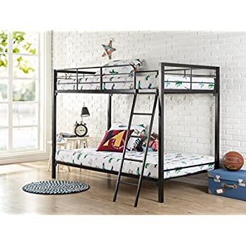 Zinus Easy Assembly Quick Lock Twin over Twin Metal Bunk Bed, Quick to Assemble in Under an Hour