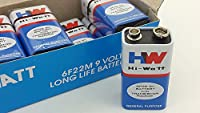 Hi-Watt 9v BATTERY SET (10 pieces)(Set of 10)