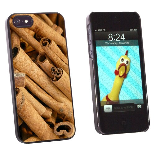 Cinnamon Sticks - Dried Brown Spice - Snap On Hard Protective Case for Apple iPhone 5 5S - Black