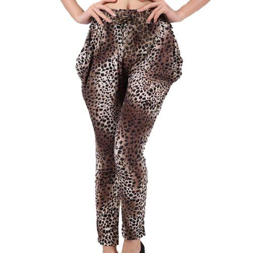 Tangda Harem Pants 916-04 Casual Women Leopard Print Harem Pants Trousers Legging