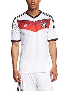 adidas Herren Trikot DFB Deutschland Heim, White/Black/Victory Red/Matte Silver, L, G87445
