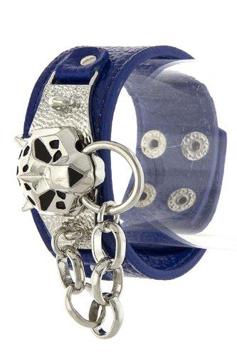 Diva & Duchess Tiger Face Wrap Bracelet (Blue)
