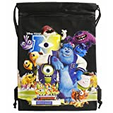 Disney Monsters University Black Drawstring Bag Backpack Travel String Pouch Disneyland-brand New with Tags!